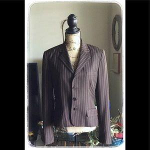 Ralph Lauren Black Label Brown Wool Blazer.